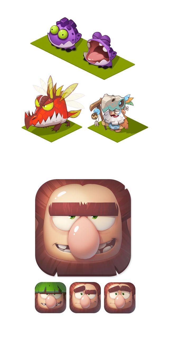 A arte do Mobile Game Adventure Era   THECAB - The Concept Art Blog