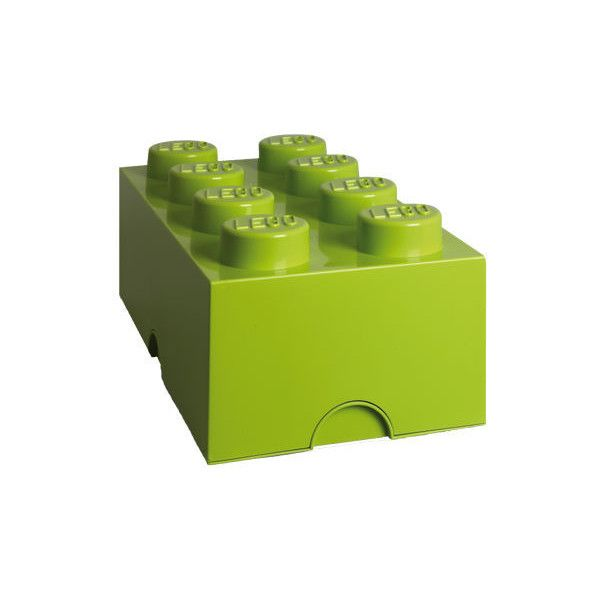 Lego Lego Storage Box 8 lime green (£28) ❤ liked on Polyvore featuring home, home decor, small item storage, colored storage boxes, lego storage boxes, lime green home decor and storage box