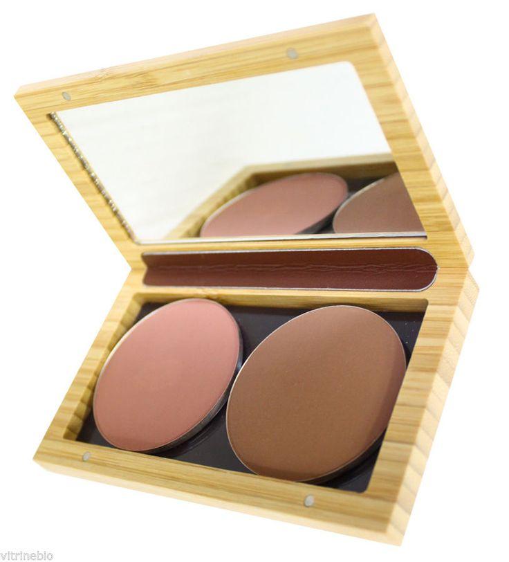 Zao boitier magnétique bambou petit modèle rechargeable pour recharges in Beauté, bien-être, parfums, Maquillage, Teint | eBay