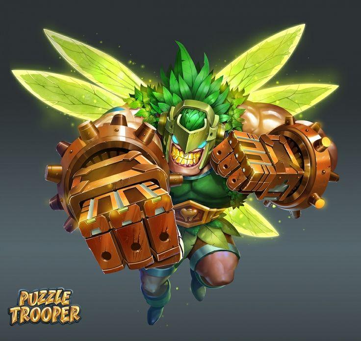 Puzzle Trooper by Gelar Esapria Kh (largee17),desain karakter,lukis digital,desain game