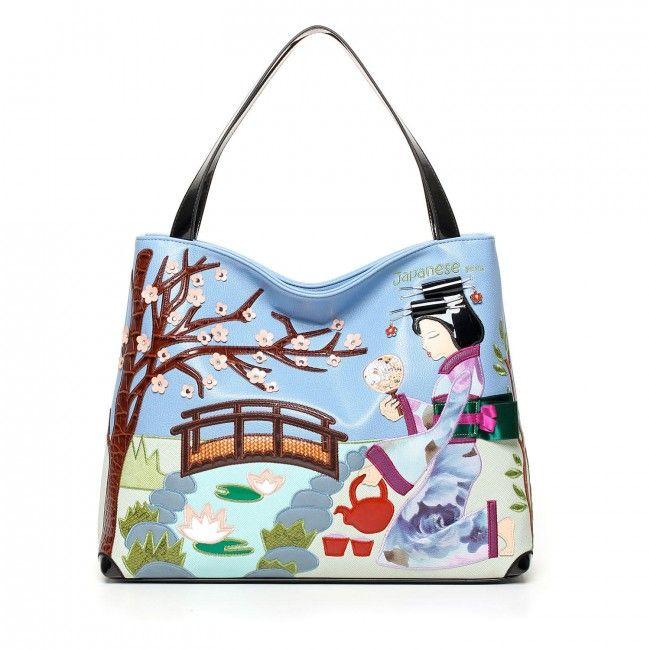 Borsa Braccialini Cartoline Giappone #bags #handbags #braccialini #cartoline