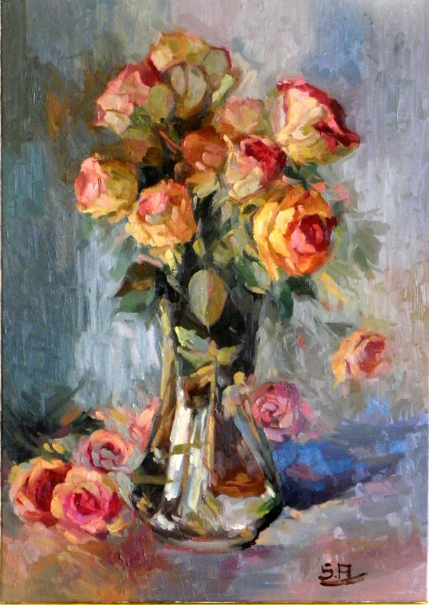 gold rosen  50x70 oil on canvas