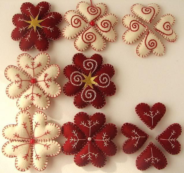 inspiracin para labores de navidad en fieltro adornos