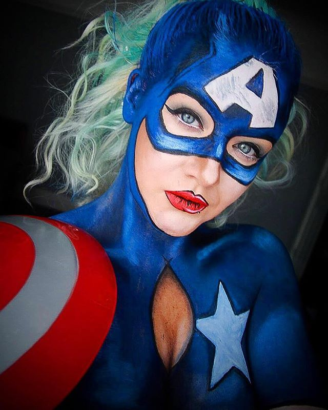 Say hello to Miss Captain America!  So I definitely need a lot more practice in… - Visit to grab an amazing super hero shirt now on sal
