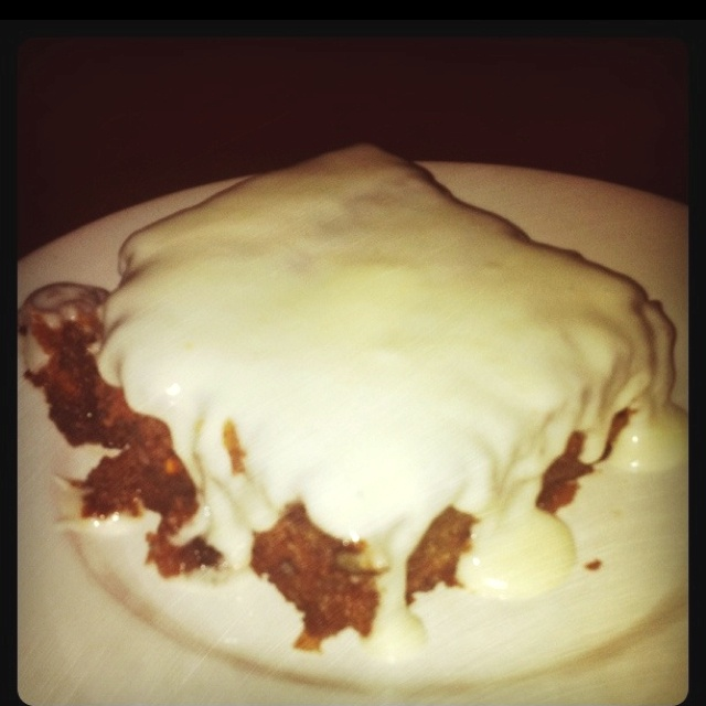 Best.carrot cake.ever!! From J Alexanders restaurant in Nashville.  Here is the link to the copycat recipe. I'll be posting a blog with a better photo.  http://articles.sun-sentinel.com/2011-08-18/features/fl-food-asked-r2-20110818_1_carrot-cake-cream-cheese-butter