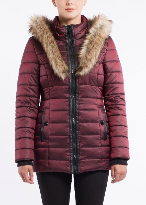 Ivy parka with chunky fur trim and hood
