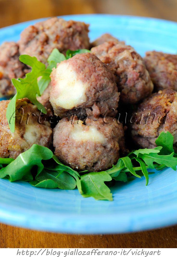 Polpette di carne e patate dal cuore filante vickyart arte in cucina
