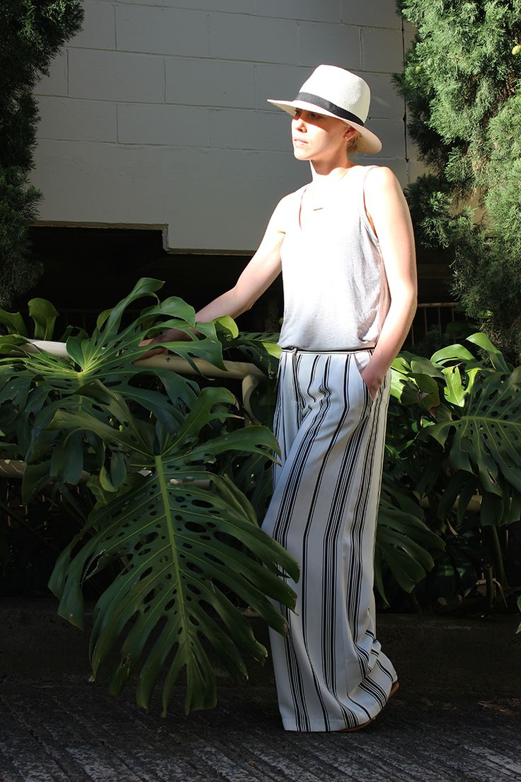 Stripe Pants - Street Style - Cameo the Label Stripe Pants - Amanda May Blog