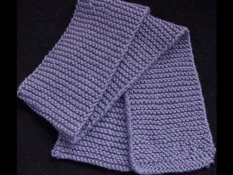 ▶ Knit a Garter Stitch Scarf - YouTube