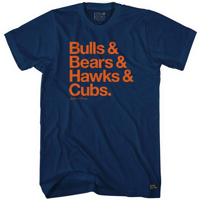 • Loyal to Chicago (Cubs) T-shirt • Designed by Loyal Locals • Available for Men / Women / Kids • Build Your Own Colors