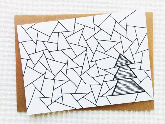 Card - Christmas card - Kerstkaart - Happy new year card - Card christmas - Holiday card - Christmas tree - xmas - Kerstboom - Handdrawn