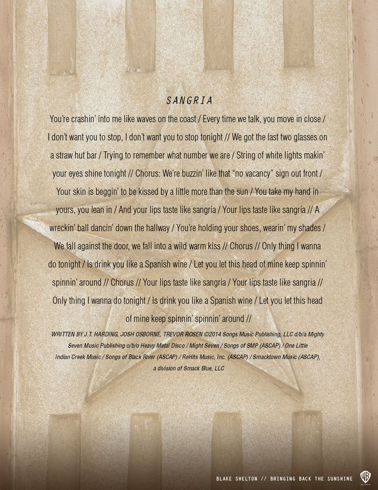 See Lyric Art for Every Song On Blake Shelton's Brand New Album (EXCLUSIVE) | MetroLyrics