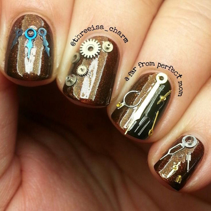 Best 25 steampunk nails ideas on pinterest pretty nails steampunk nails prinsesfo Gallery