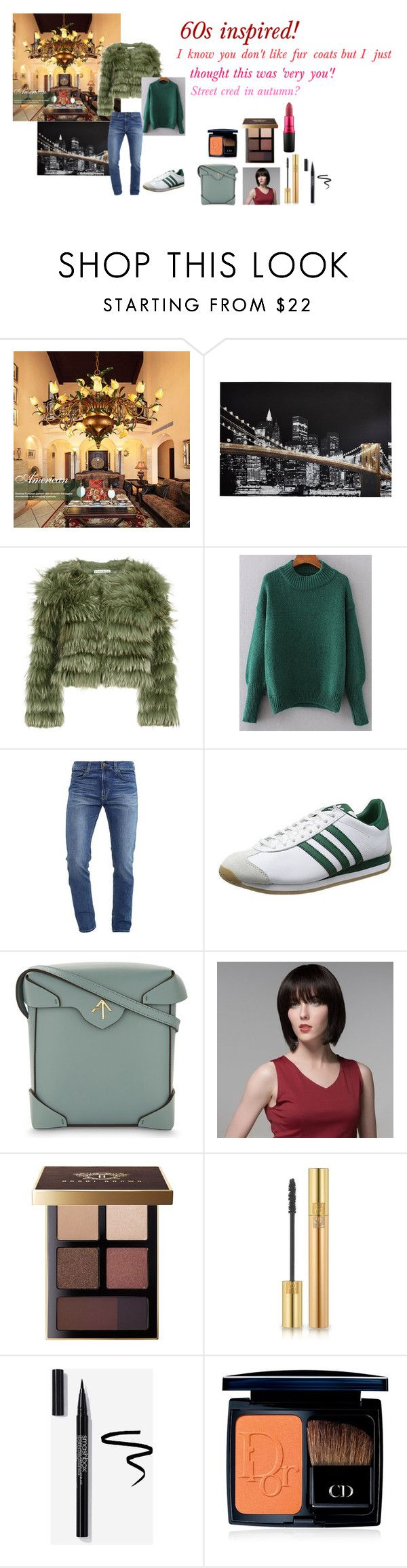 """""""For Mum (Ruth) - Mum's ideal wardrobe by me: 60s inspired!"""" by sarah-m-smith ❤ liked on Polyvore featuring Alice + Olivia, WithChic, Hollister Co., MANU Atelier, Bobbi Brown Cosmetics, Yves Saint Laurent, Christian Dior and MAC Cosmetics"""