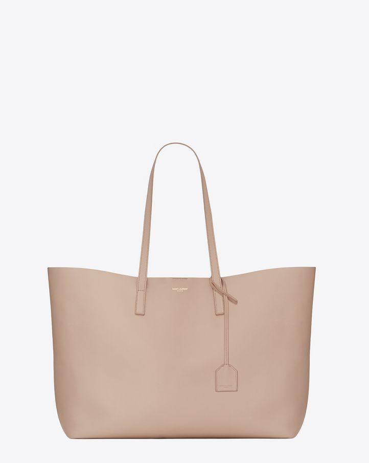 Saint Laurent Large SHOPPING SAINT LAURENT Tote Bag In Pale Blush Leather | YSL.com
