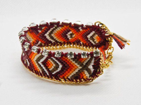 TiffyDesigns custom friendship bracelets. Choose your colours and the chain. #summerbracelets #bracelets #boho #pridejewelry #bohemian