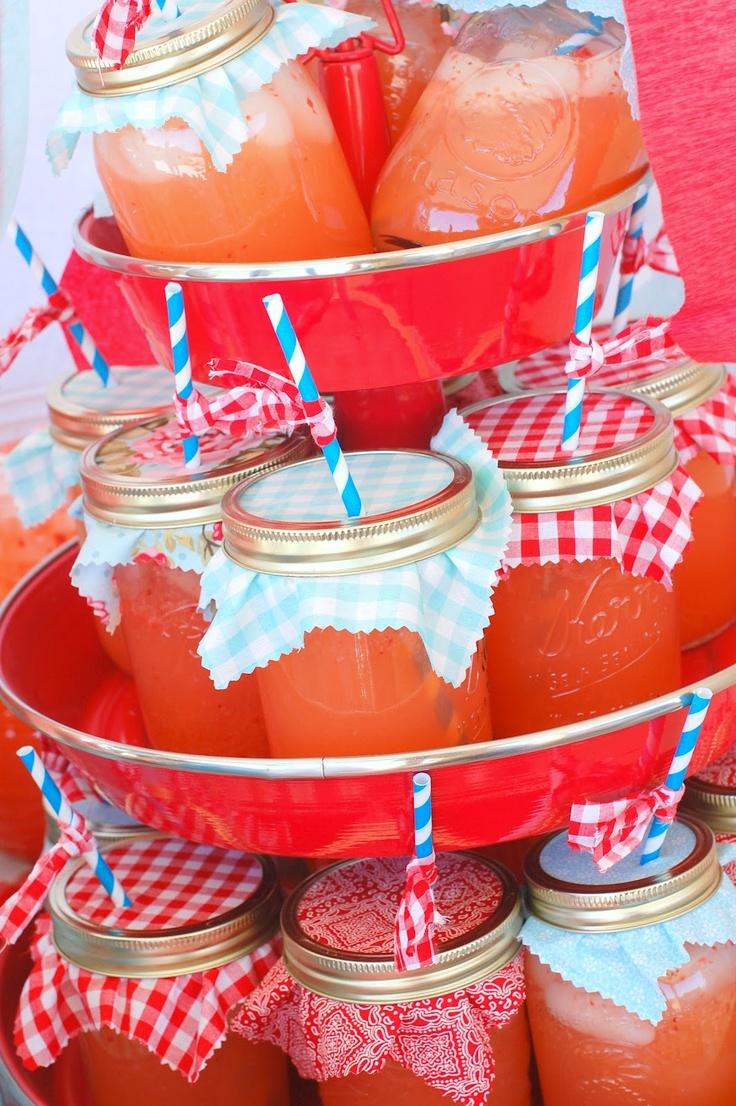lemonade in ball jars