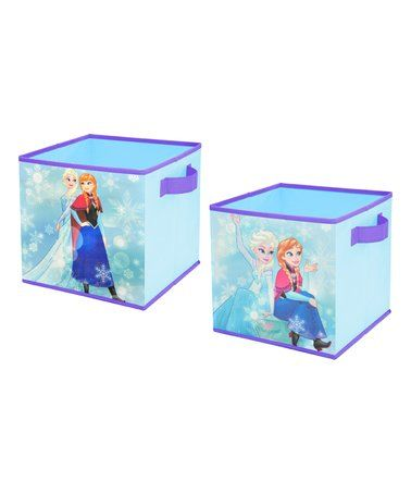 Look what I found on #zulily! Frozen Blue & Purple Collapsible Storage Cube - Set of Two #zulilyfinds