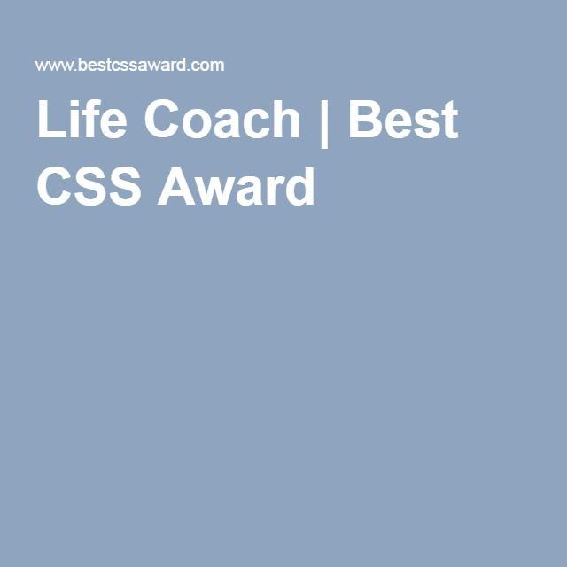 Life Coach | Best CSS Award