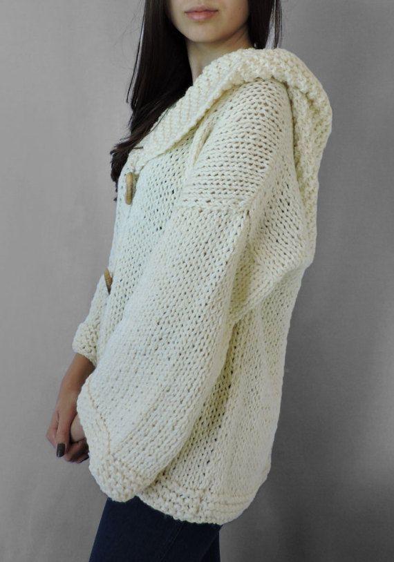 Merino Wool Hand Knitted Sweater Plus Size Sweater Womens Irens