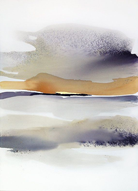 Large Watercolor Original Abstract Art Abstract by SabrinaGarrasi