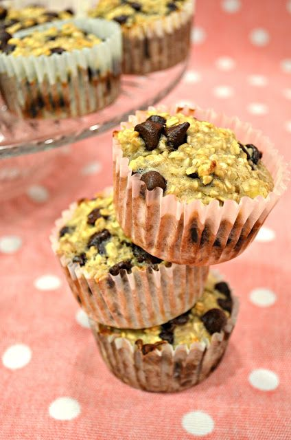 Banana Oatmeal Chocolate Chip Muffins! | Something New To Try | Pinte ...