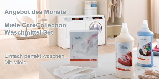 Miele Angebot des Monats:   Care Collection Waschmittel-Set. Einfach perfekt waschen mit Miele. http://miele-shop.com/international/miele_shop/en/