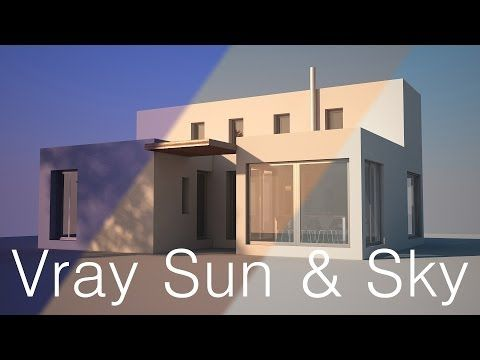 VRay sun and sky for beginners - YouTube