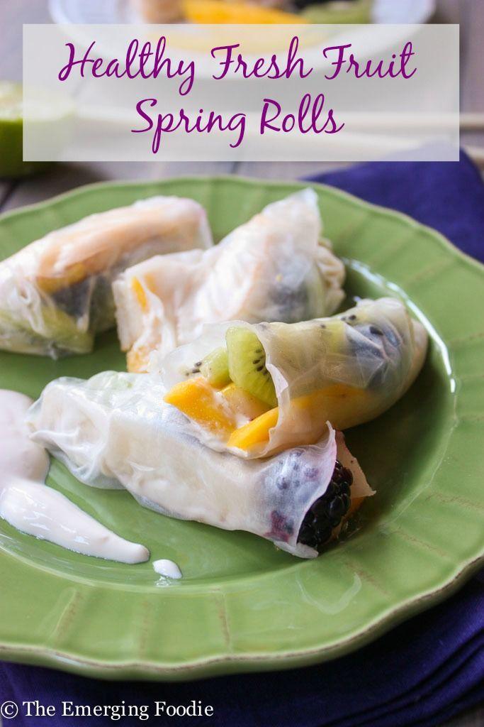 19 best dessert spring rolls images on pinterest egg rolls healthy fresh fruit spring rolls the emerging foodie healthy fresh fruit spring rolls with forumfinder Image collections