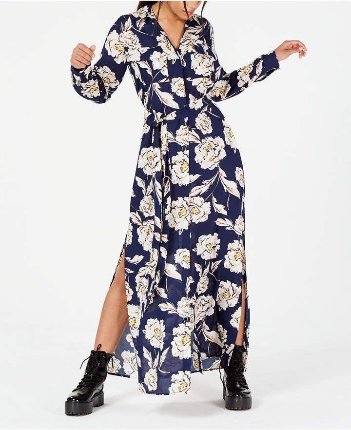 5a391004d2a Lola Grace Juniors  Floral Maxi Shirtdress