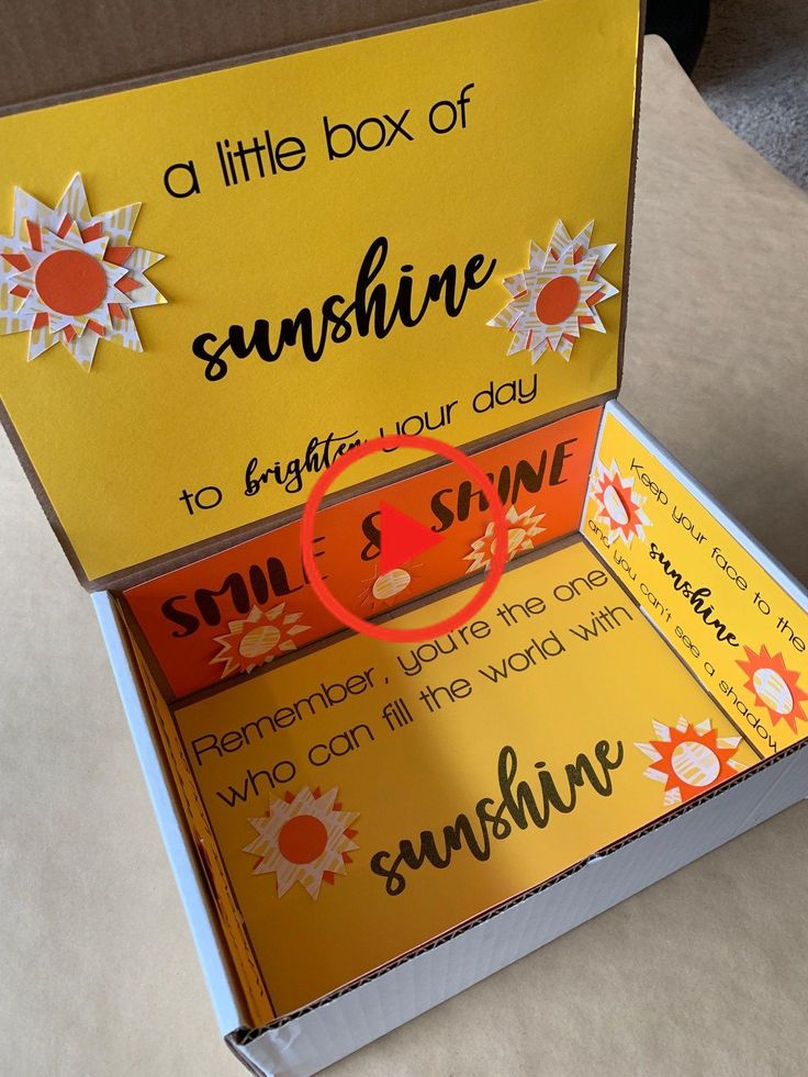Care Package A little box of sunshine My Inspiration