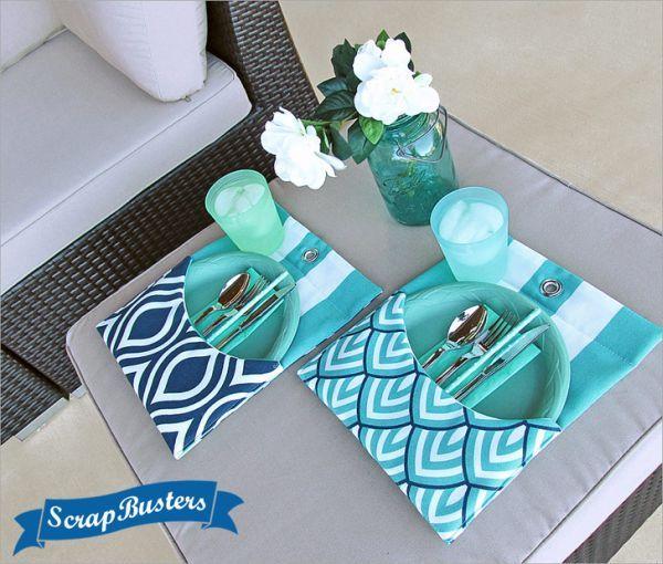 Este artesanato com tecido para decorar a mesa é diferente e sempre faz muito sucesso (Foto: sew4home.com)