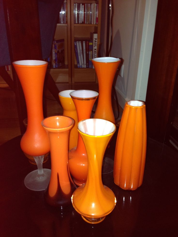 And more orange vases! Orange glass vases
