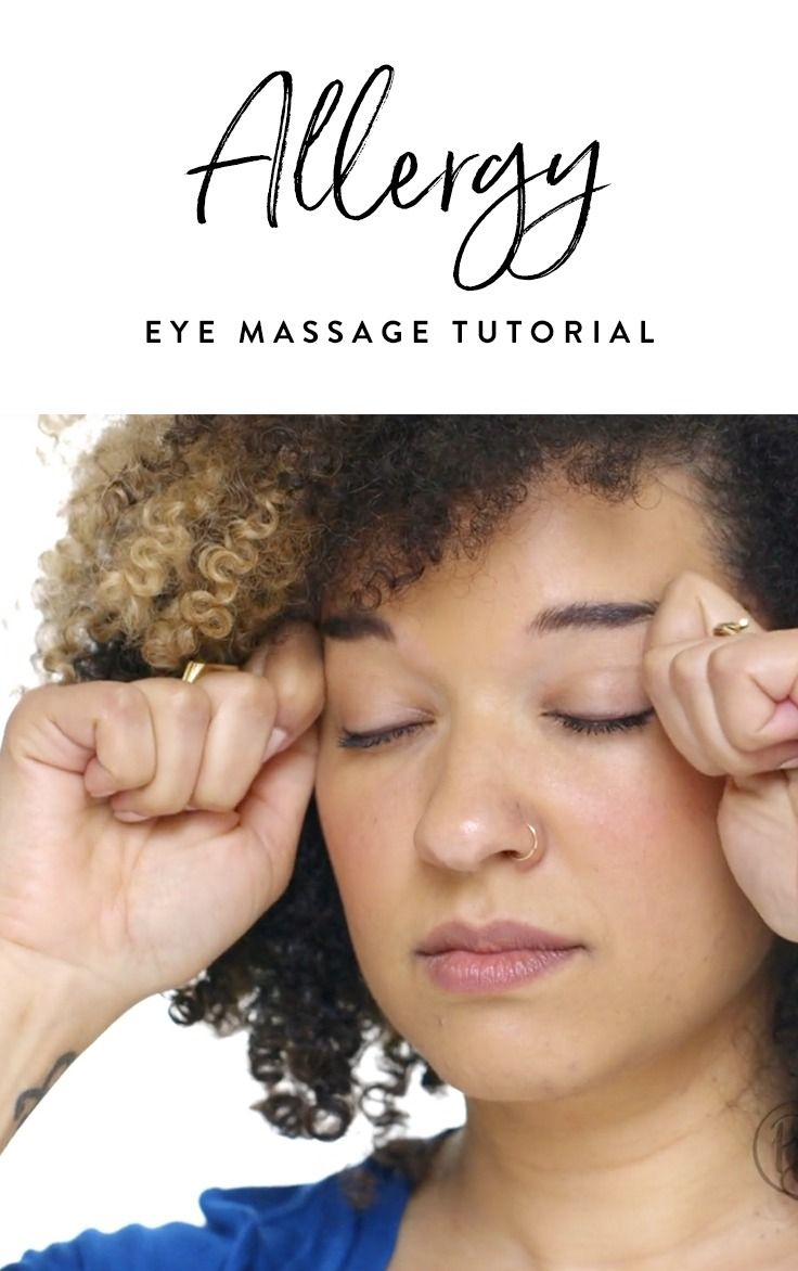 Next time you find yourself feeling congested and puffy-eyed, give this handy allergy eye massage a try. Trust us, you'll be feeling better in no time.