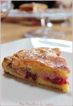 Tarte amandine aux framboises http://cuisinebyana.canalblog.com/archives/2014/05/05/29750552.html