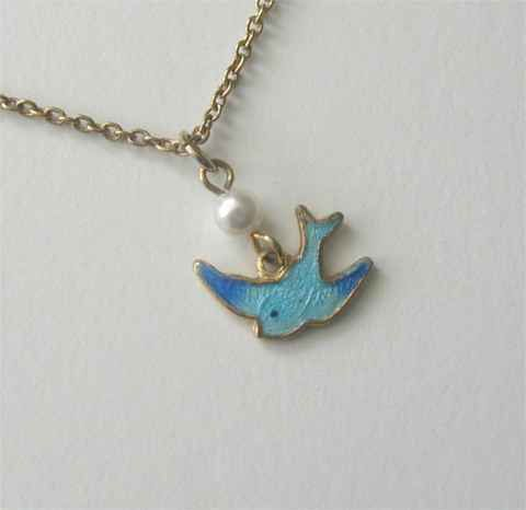 46 best sarah coventry images on pinterest coventry vintage vintage sarah coventry enamel bluebird of happiness necklace aloadofball