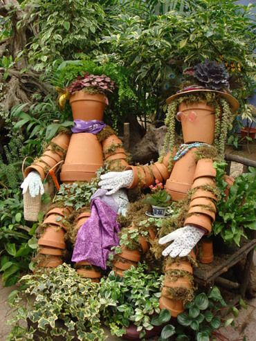 images about Flower Pot People.. Clay Pot