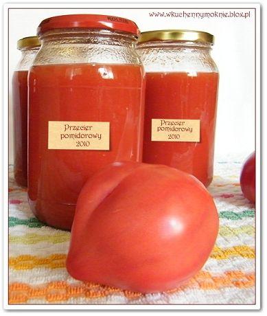 Ten przecier robię każdego roku, z tych pomidorów, które nie da się zjeść na bieżąco. A przyznam, że tego roku obrodziły, z czego się bardzo cieszę, bo zimową
