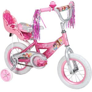 "12"" Huffy Disney Princess Girls' Bike with Doll Carrier $50"