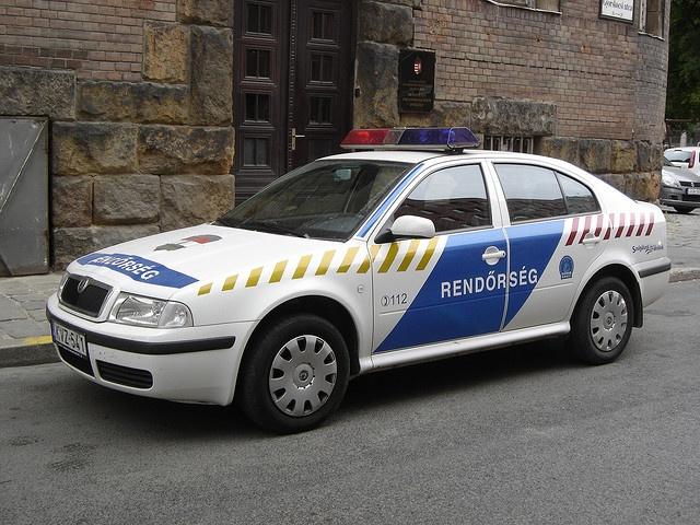 Budapest: Škoda Octavia police car by harry_nl, via Flickr