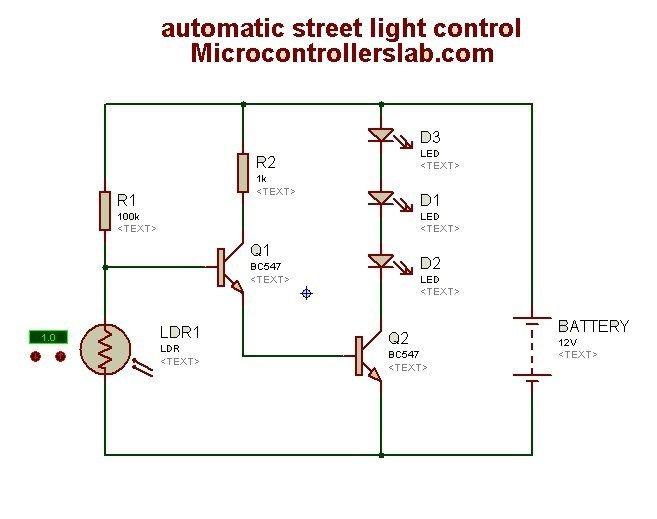 Automatic Street Light Control Light Control