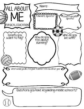 All About Me – Physical Education