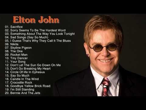 Best Songs Of Elton John - Elton John Greatest Hits Playlist - YouTube