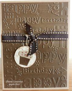 Happy birthday cards on Pinterest | Embossing Folder, Birthday ...