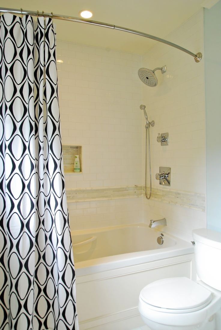 Mix Of High And Low Price Features Subway Tile W Marble Band Tub