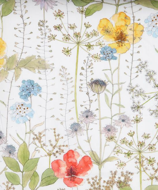 Irma C Tana Lawn from the Liberty Art Fabrics collection.    Digitally printed to retain exact brush strokes and the tiniest pencil mark. Euphorbia, poppies, astrantia and iberis create a delicate ethereal meadow.