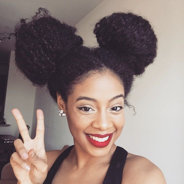 afro puffs and double buns 15