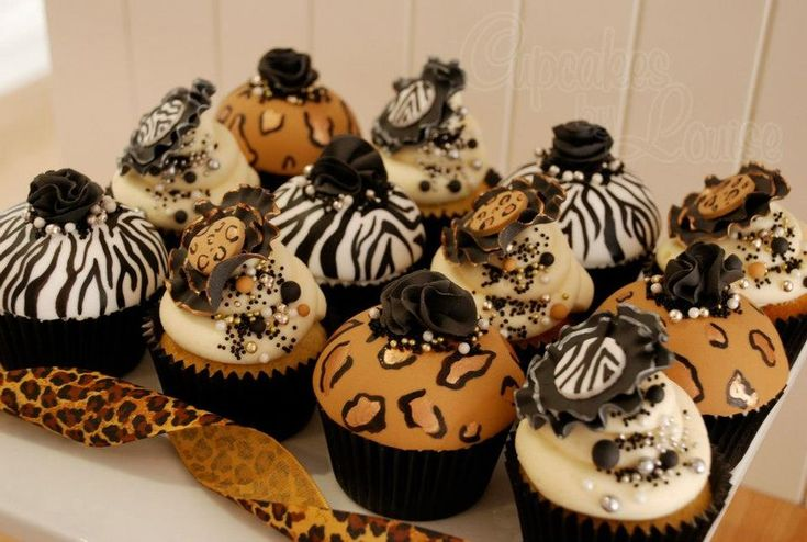 Leopard Print Cake Recipe | ... animal print cupcakes - by CupcakesbyLouise @ CakesDecor.com - cake