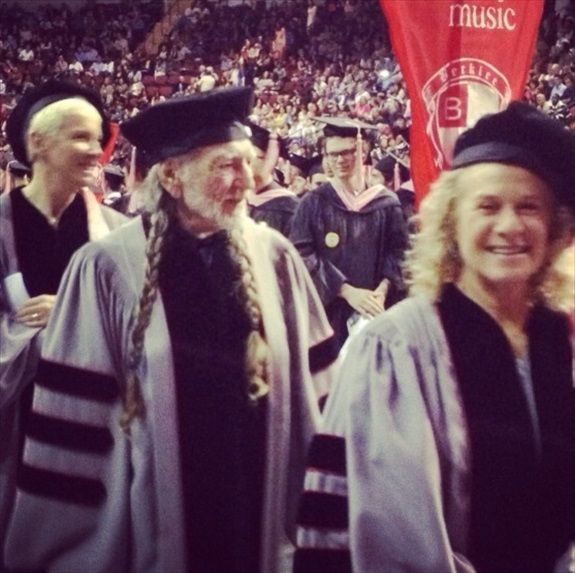 Annie Lennox, Willie Nelson, and Carole King getting their Berklee PhDs.