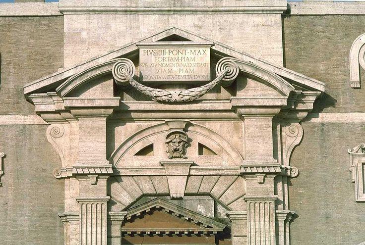 Michelangelo, Porta Pia, 1561-64, Romeward Portal